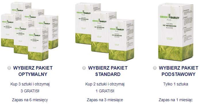 pakiety zamówienia green barley plus